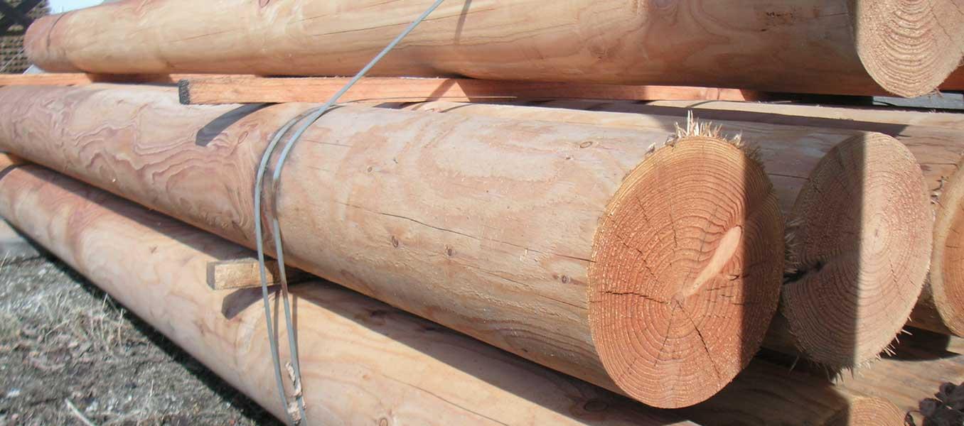 Trykimprægneret stolper 75×75